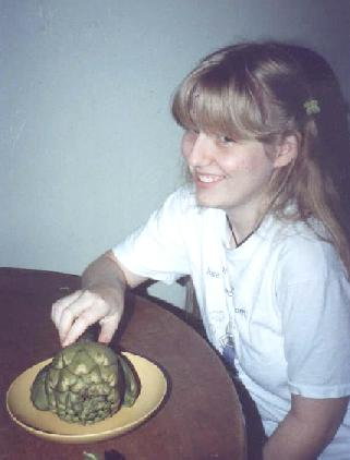 [Me with artichoke]