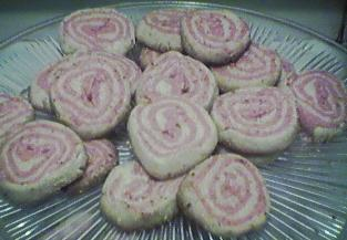 [swirly pink cookies]